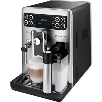 Saeco Exprelia EVO Class Automatic Espresso Machine with Fully Automated Dual Cleaning Milk Carafe, Easy Milk Frothing