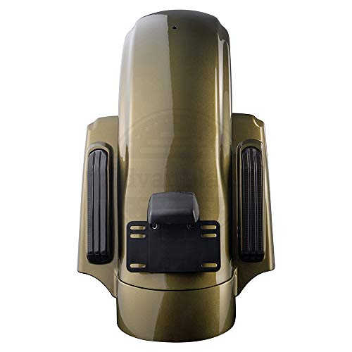 Advanblack Olive Gold CVO Style Rear Fender Kit Fit for 2014-2019 Harley Touring Street Glide Road King Road Glide ()