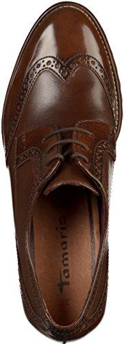 Tamaris 23302, Zapatos de Cordones Oxford para Mujer, Marrón (Maroon), 41 EU