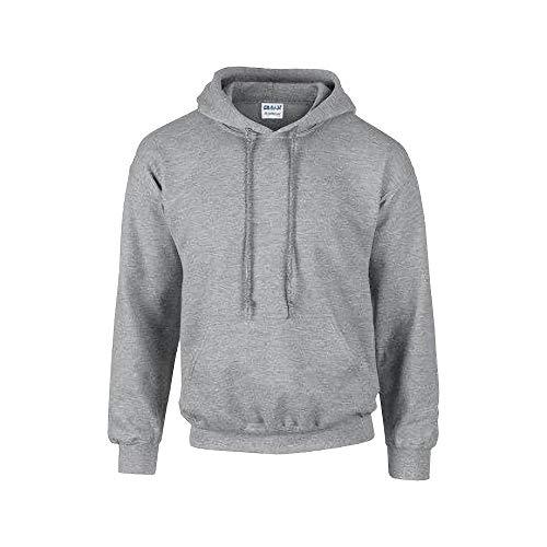Gildan G125 DryBlend Adult Hooded Sweatshirt, Sport Grey (50/50), Medium