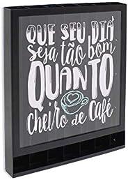 Porta-Cápsulas Cheiro de Café, GeGuton, Preto/Estampa, Bistrô Café