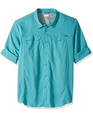 Men's Big-Tall Silver Ridge Lite Long Sleeve Shirt, Teal, 3XT