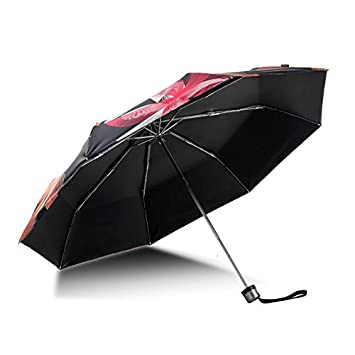 Paraguas plegable automatico Mujer niño Hombre an Manual Tres - Protección UV Recubrimiento plástico Negro: Amazon.es: Hogar