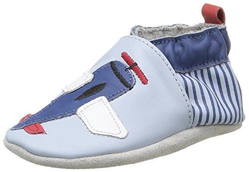 Robeez Jet Lag - Zapatillas de casa Bebé-Niños Azul - Blau (51)