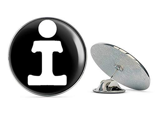 NYC Jewelers Round Illinois Central Railroad (rr Railway Rail Logo) Metal 0.75