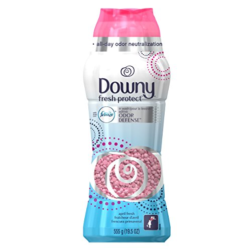 Downy Fresh Protect April In-Wash Odor Shield, Laundry Scent Booster, 19.5 Ounce - Downy Fabric Softener Liquid