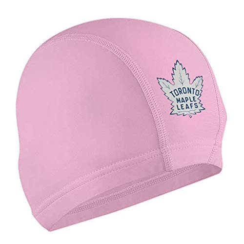 EDGG Hockey-Logo-Toronto-Maple-Leafs Adults Swim Cap, Silicone Waterproof Comfy Swimming Bathing Cap for Short and Long - Shorts Womens Leafs Maple Toronto