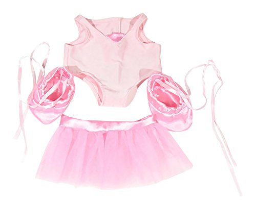 Dear Baby Gear Animal and Outfit Collection Mix And Match, Pink Ballerina with Shoes Outfit Only
