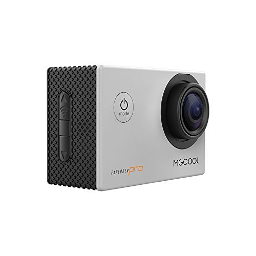 MGcool Explorer-Pro 4K Action Camera,170° Wide Angle ''SHARKEYE'' Lens Waterproof Sports Camera SILVER 16MP Ultra HD Underwater Action Cam with SONY Sensor and Accessories