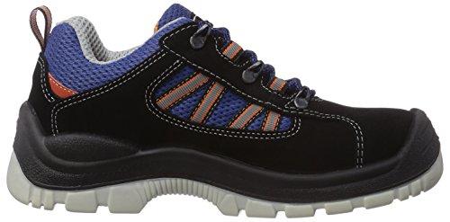 MTS Sicherheitsschuhe Santos Base+ Check S3 Flex 4100, Unisex-Erwachsene Sicherheitsschuhe Blau (blau/schwarz)