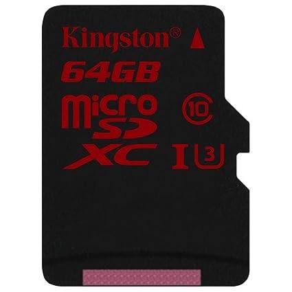 Kingston SDCA3/64GB - Tarjeta de Memoria microSDHC/SDXC de 64 GB (UHS-I U3, 90R/80 W, SDCA3, con Adaptador SD)