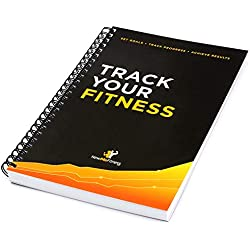 Workout Log Book & Fitness Journal - 25-Week Designed by Experts, w/Illustrations : Track Gym, Bodybuilding & Crossfit Progress : Sturdy Binding, Thick Pages & Laminated, Protected Cover 1-Pack