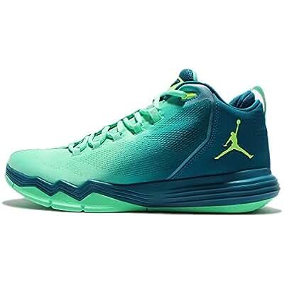 Jordan Men's CP3.IX AE X, GREEN GLOW/GHOST GREEN-GREEN ABYSS