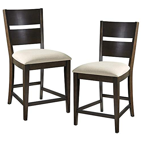 Furniture At Home Food and Wine Reserve Collection Counter Height Chair Ebony