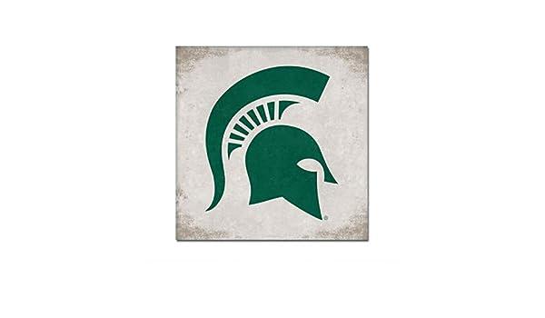 One Size Custom NCAA Legacy Michigan State Spartans Mini Canvas Art 9x9
