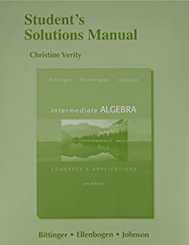 student s solutions manual for intermediate algebra concepts rh amazon com Intermediate Algebra McKeague 9th Edition Intermediate Algebra Concepts Applications