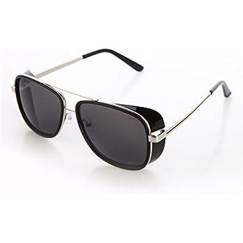 d5d79dda330 Tortoise Sunglasses IRON MAN TONY Stark 3 Steampunk Men Mirrored Polarized  Matsuda Black UV400