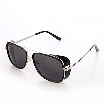 61b601bd21 Amazon.com   Tortoise Sunglasses IRON MAN TONY Stark 3 Steampunk Men  Mirrored Polarized Matsuda Black UV400   Everything Else