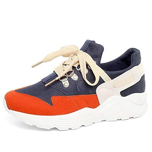 Leggero Piattaforma Sneaker Ysfu Donna All'aperto Casual In Da Estate Scarpe Pizzo Autunno Zeppa Fitness Smorzamento Traspirante BUwqf7p