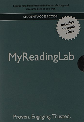 New Myreadinglab with Pearson Etext - Valuepack Access