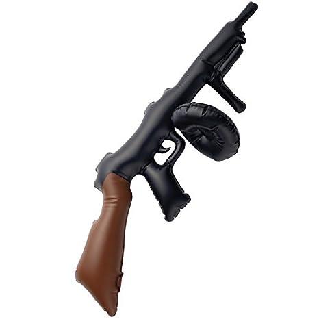 Fancy Dress Four Less Tommy Gun 34761 - Pistola Hinchable de Mafia ...