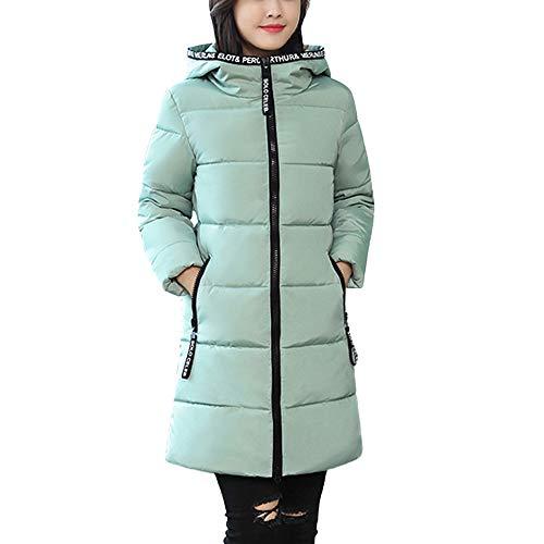 UONQD Women Winter Warm Coat Letter Hooded Thick Warm Slim Jacket Long Overcoat (Orange Cheerleader Jacket)