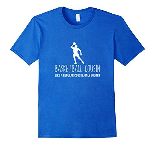Mens Basketball Cousin Shirt, Funny Bball Gift XL Royal Blue