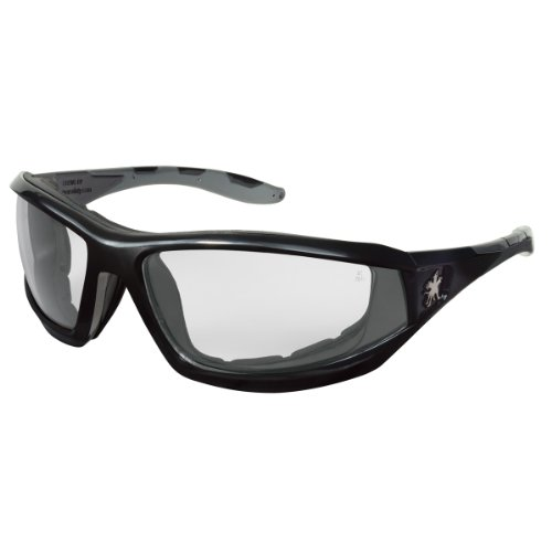 Crews® Rattler Regular Safety Glasses With Black Polycarbonate Frame And Clear Polycarbonate Duramass® Anti-Fog Anti-Scratch Lens (Polycarbonate Frame Clear)
