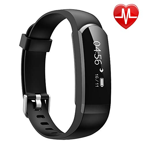 ker, Heart Rate Monitor Watch Waterproof Smart Bracelet Activity Tracker with Sleep Monitor Step Calories Counter Alarm Clock Call Message Notice for Android iOS Phones Women Men ()