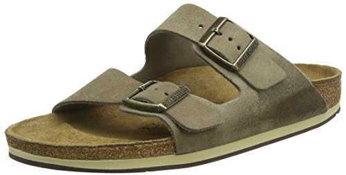 - Birkenstock Unisex Adults' Arizona Open Toe Sandals, Beige (Taupe Finish), 9 UK 43 EU