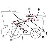 111954W1 New Combine Rotor Pump Drive Belt for Massey Ferguson 8780