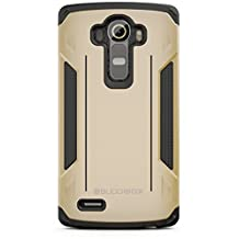 LG G4 Case, BUDDIBOX [Corner Series] Slim Fit Dual Layer Soft Cushion Drop Protection Heavy Duty Case for LG G4, (Gold)