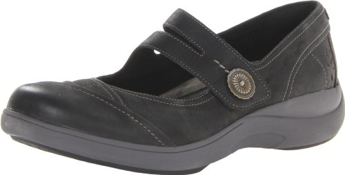 Aravon Women's Revshow Mary Jane Flat,Black,9 B US