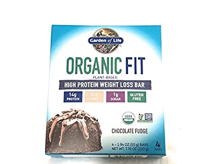 Garden of Life Organic Fit High Protein Weight Loss Bar - Chocolate Fudge - 4 Bars