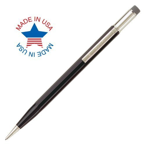 Autopoint® All-American® Pencil, 0.9mm tip, Paneled Barrel, Black, American Made (10010BK)