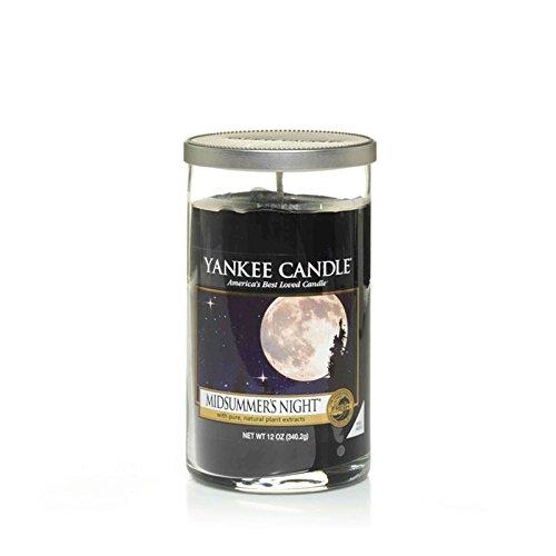 Yankee Candles Medium Pillar Candle - Midsummers Night (Pack of 2) - ヤンキーキャンドルメディアピラーキャンドル - Midsummersの夜 (x2) [並行輸入品] B01N2JNO30
