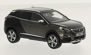 Peugeot 3008 Gt Metallic Gris Noir 2016 Voiture Miniature