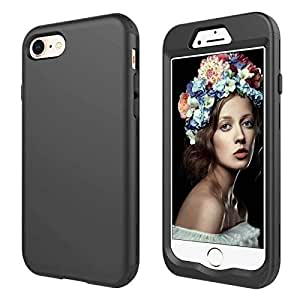 Trendy Design Black Shell Phone Case Protective Shock-Absorption Cover For Apple iPhone 7 & 8