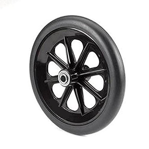 Wheel Replacement For Wheelchairs, 8 inch by 1 inch Black (2)