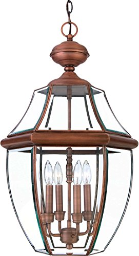Quoizel NY1180AC  Newbury 4-Light Outdoor Lantern, Aged Copper - Newbury Newbury Outdoor Fixture