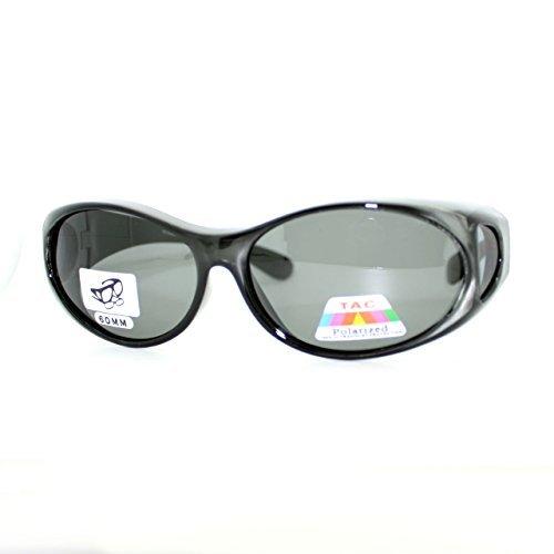 Cocoons Aviator Polarized Sunglasses - OTG Fit Over Glasses Oval Polarized Lens Sunglasses 100% UV Protection Gray