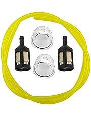 Homyl Replacemnent for Homelite Petrol Fuel Line Hose & Primer Bulb & Fuel Filter