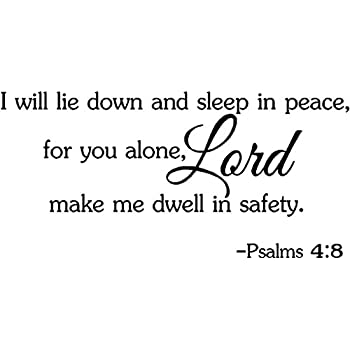 Amazon Yingkai I Will Lie Down And Sleep In Peace Psalms 48