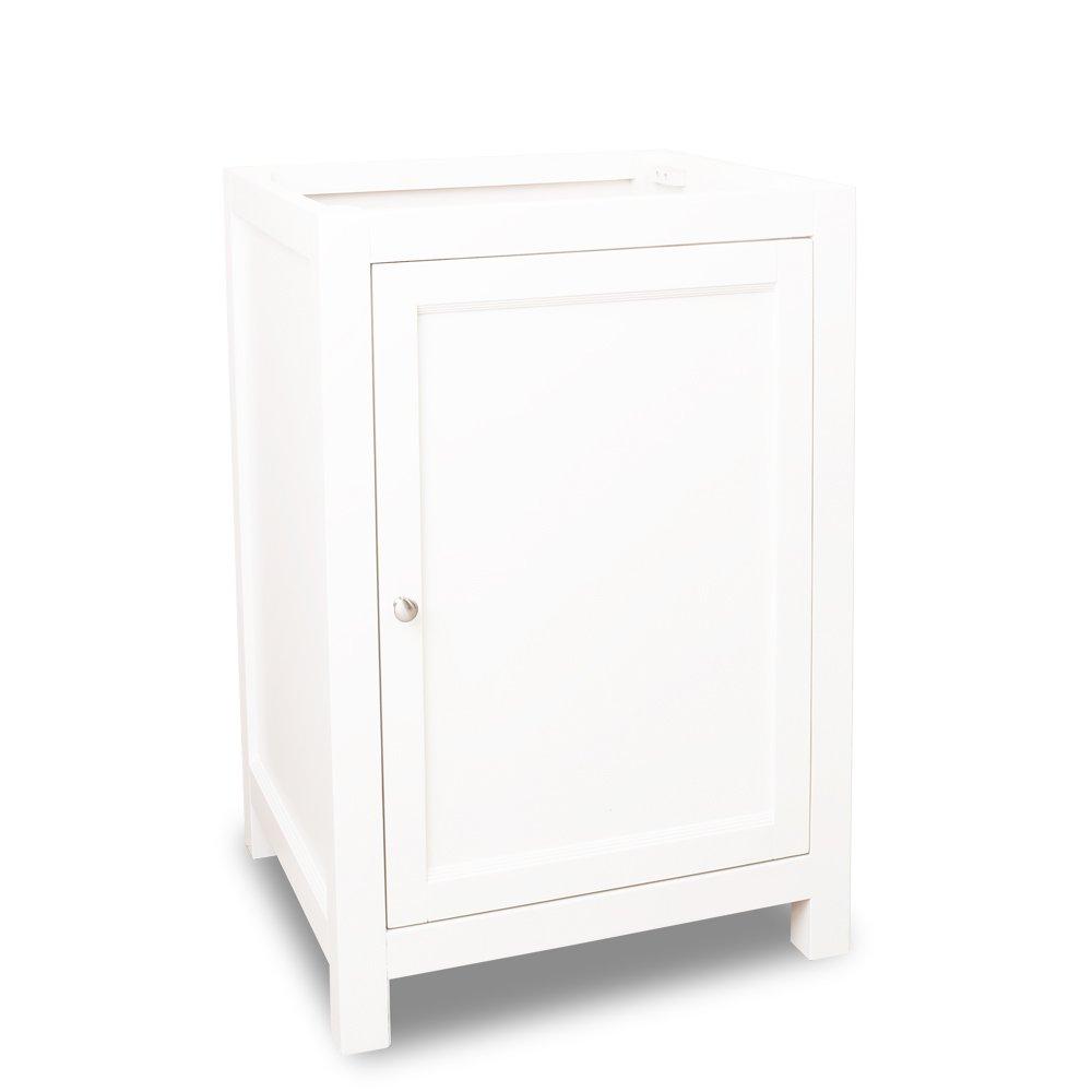 Jeffrey Alexander Lyn Design Vanity without Top with Mirror - VAN091-24 / MIR091-30 - Cream White