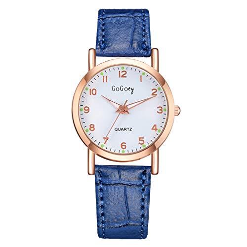LUCAMORE Women Watches Leather Band Round Arabic Numerals Dial Luxury Quartz Watches Girls Ladies Wristwatch