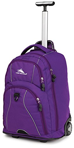 High Sierra Freewheel Wheeled Backpack, Purple,One Size