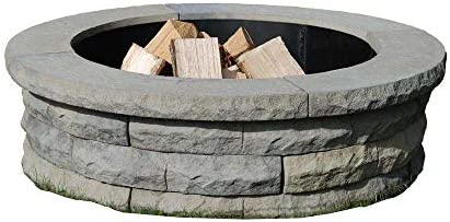 Nantucket Pavers 72002 Concrete Ledgestone Fire Pit Kit