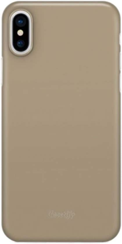 Casetify Ultra Slim Skin iPhone X Case with 0.45mm Thinnest Minimal Light Cover and Anti-Scratch and Fingerprint Resistance Soft Thin Fit for Apple iPhone X - Gold