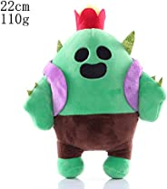 HHtoy Cactus Plush Figures Toy Brawl Stars Anime Game Stuffed Soft Doll for Children Kids Cactus Pendant Pillo