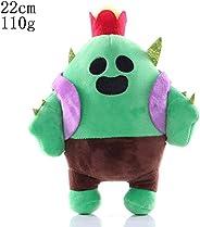 HHtoy Cactus Plush Figures Toy Brawl Stars Anime Game Stuffed Soft Doll for Children Kids Cactus Pendant Pillo